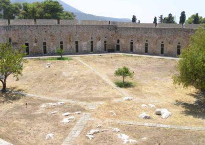 Een kijkje op het het fort van Pylos